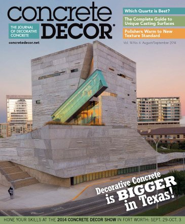 Concrete Decor - Vol. 14 No. 6 - August/September 2014