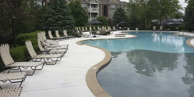 Cambridge Square Apartments Kansas concrete pool deck repair
