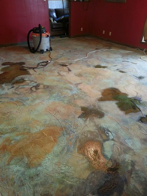 How Do You Stain Concrete : How to correct acid stain colors on concrete decor