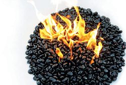lava rock fire bowl Concrete Decor