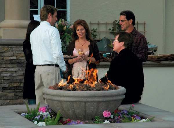 natural gas fire bowl - Concrete Decor magazine