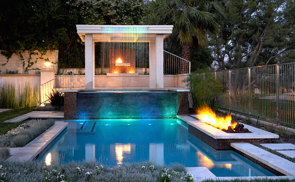 cast-in-place swim up bar in pool - Concrete Decor magazine