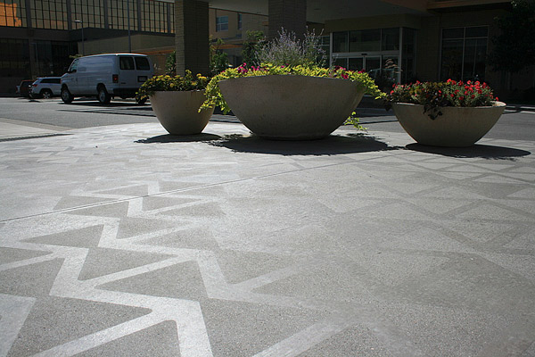 Subtle shifts in color and texture appeal to designers and owners in Colorado. Template sandblasting is one of the methods used to achieve this look. Photos courtesy of Colorado Hardscapes