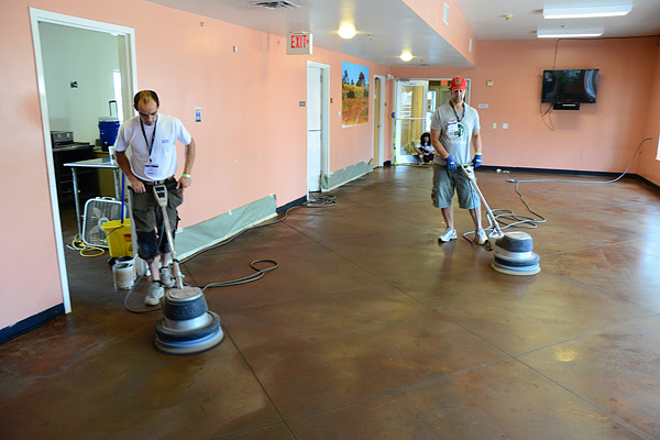Buffing concrete floors floor matttroy for Buffing stained concrete floors
