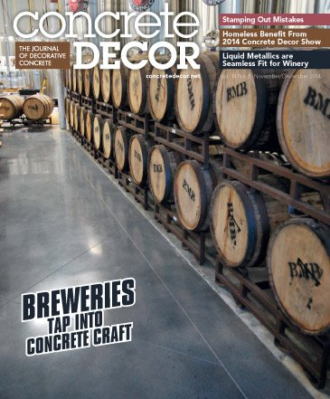 Concrete Decor - Vol. 14 No. 8 - November/December 2014
