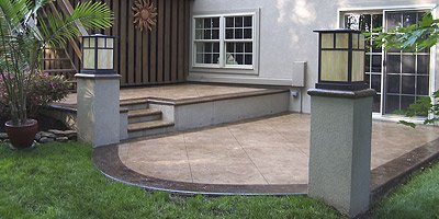 Decorative concrete patio by Emil Gera