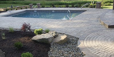 Pouring concrete pool decks