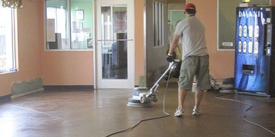 Maintaining a concrete floor - he maintenance for polished concrete is simple. Basically, you sweep it regularly, scrub it on a schedule with appropriate cleaners and burnish it a few times a year. This sounds simple, right? In some cases, this works out perfectly. In others, not so much.
