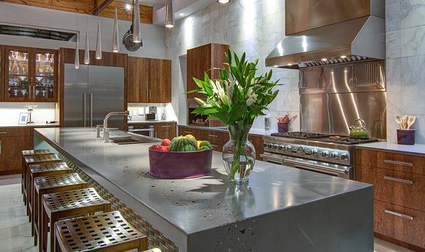 Glass Kitchen Island Countertops