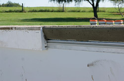 Unfinished Concrete Pool Coping Face