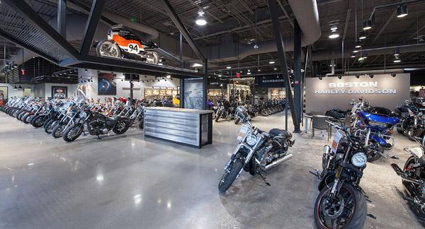 Polished Concrete Installed at Harley-Davidson Dealership