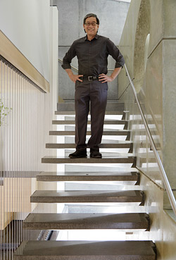 cantilevered concrete stairs Photos by Matthew Millman Photography