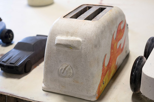 Buddy Rhodes concrete car derby toaster derby car