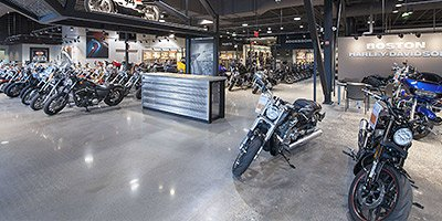 Polished Concrete in Harley Davidson Dealership
