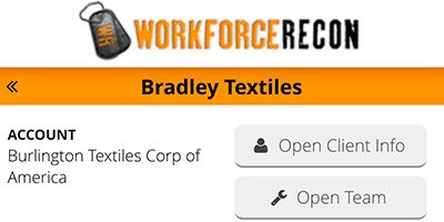 Workforce Recon jobsite app