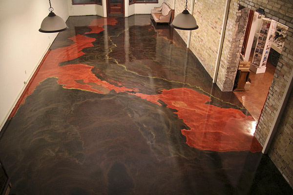For Art S Sake A Metallic Epoxy Concrete Floor In A