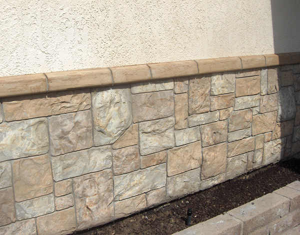 Stones Like Stones icf walls become vertical canvases for decorative concrete finishes