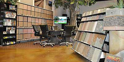 Colorado Hardscape's Concrete Design Center Showroom - In 2001, Colorado Hardscapes made a move that forever changed its approach to sales and marketing. The company moved into a new concrete design center, the first of its kind in Colorado.