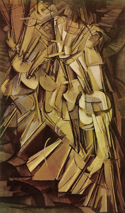 "Marcel Duchamp, ""Nude Descending a Staircase, No. 2"""