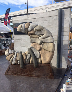 Troy Lemon's Blue Moon Sculpture for World of Concrete 2015