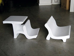 ergonomic concrete chair