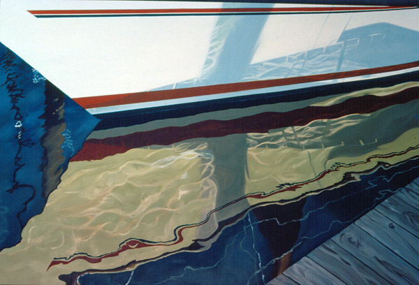 Sailboat Hull by G. Goodman, oil on canvas Photo courtesy of Gaye Goodman