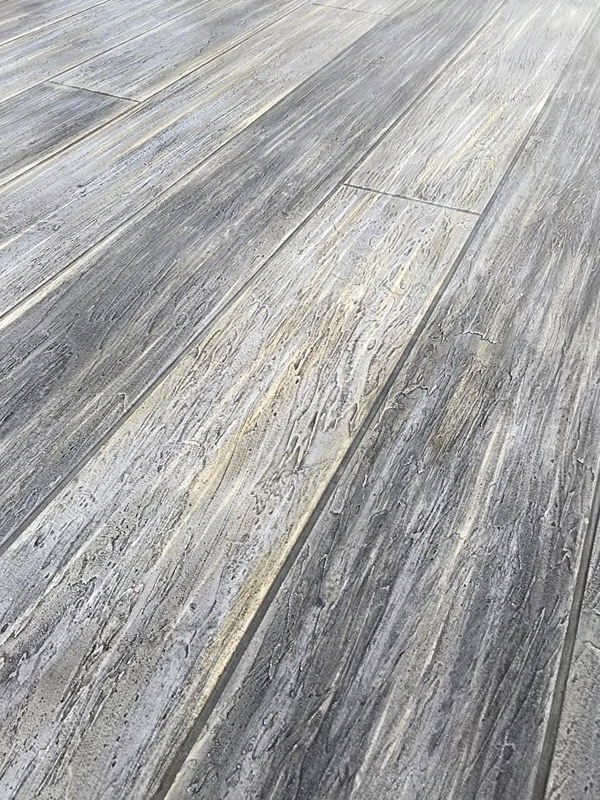 Gray Concrete Flooring : Concrete that looks like wood decor