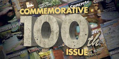 Concrete Decor magazine 100th issue