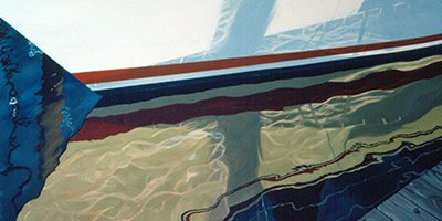 Sailboat hull by Ggoodman oil on canvas
