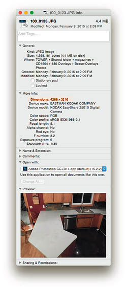 get image info - Pixel dimensions can be found in Image Properties on Windows or the Get Info window on a Mac.