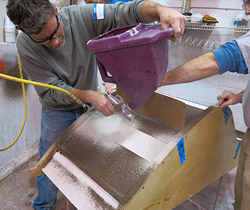 fundição cadeira de concreto de como fazer