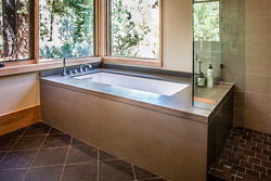 modern industrial concrete bathtub