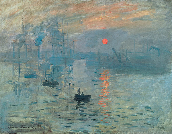 Impression, Sunrise by Monet used as inspiration to concrete contractors when creating artistic work.