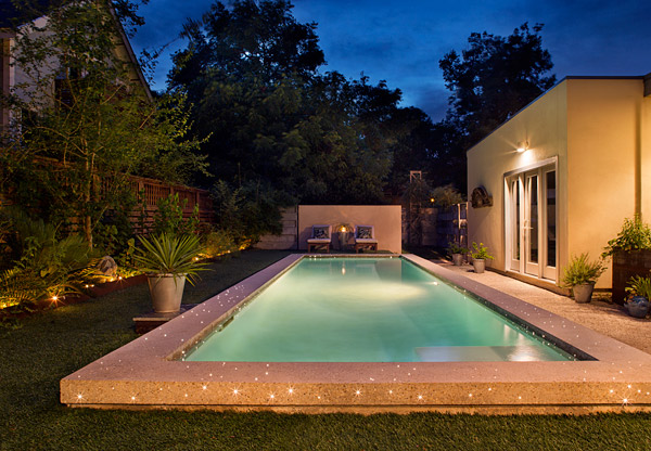 Concrete Pool Embedded With Led Lights Concrete Decor
