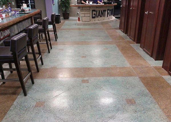 stained concrete floor that looks like tile