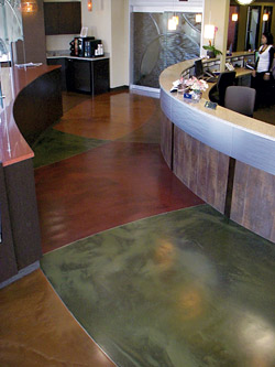 colorful concrete floor