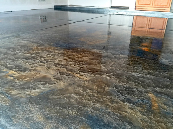 brown gold metallic epoxy floor - Metallic floors always involve a 100 percent solid epoxy or a very high-solid polyaspartic. There are two considerations that I like to explain to my customers: their cosmetics and their durability.