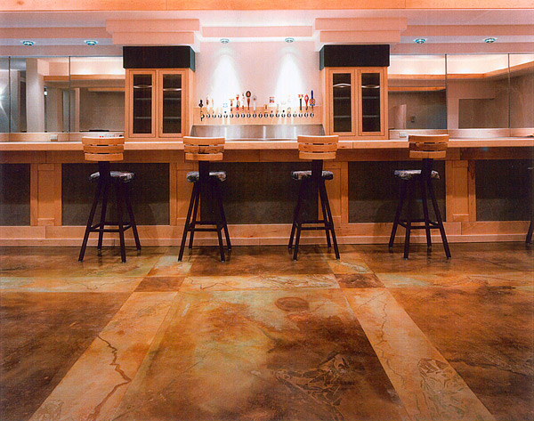 brown texture stained concrete floor