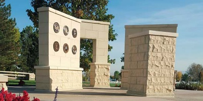 The Veterans Memorial project entailed about 2,000 square feet of flatwork featuring two different finishes