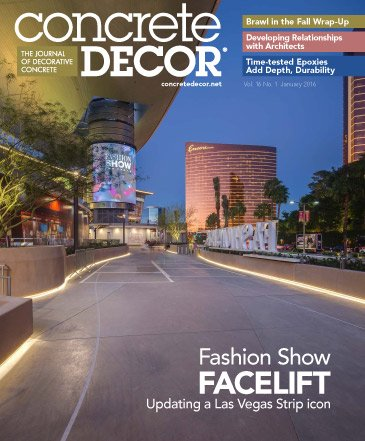 Concrete Decor - Vol. 16 No. 1 - January 2016