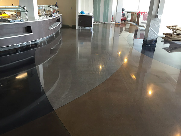 ICC Safety Surfaces was brought in to stain and polish Ohio State University concrete flooring.