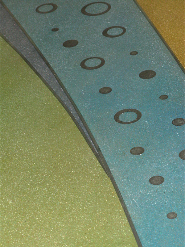 Polished Concrete and Epoxy Floor Shimmers with Aluminum