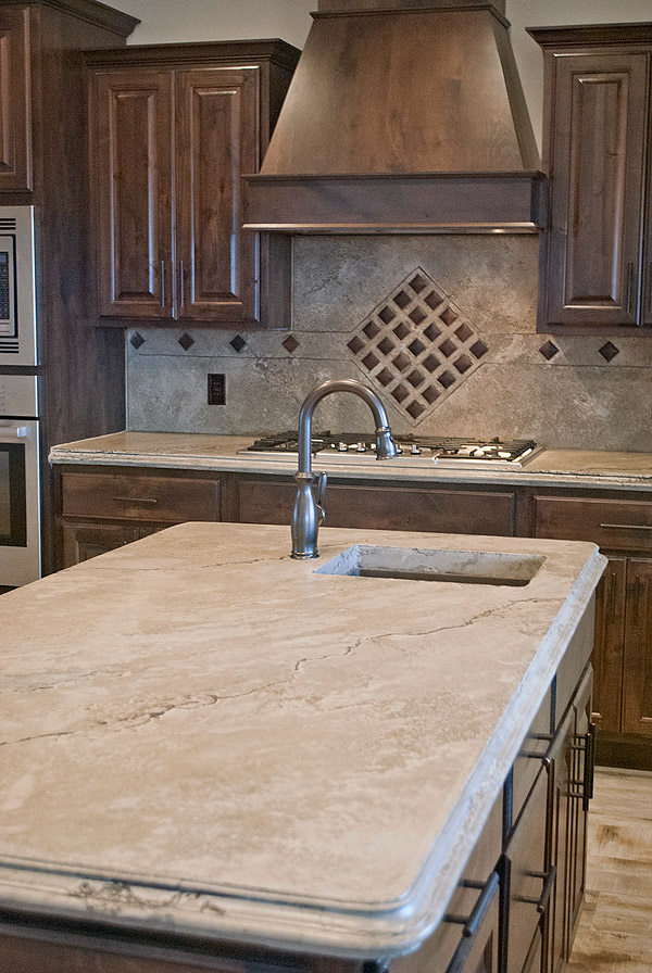 Exceptional Light Brown Concrete Countertop That Has A Marble Look By Ben Ashby.