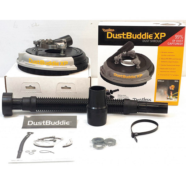 DustBuddie fits most hand grinders and collects dust