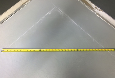 measuring the corner by calculating c
