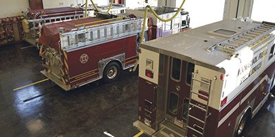 When fire stations are upgraded, contractors must complete improvements while minimally disrupting operations and firefighters' access to equipment. Oftentimes, the return-to-service window of products used is paramount to completing this task, especially when coating and sealing concrete apparatus bays.