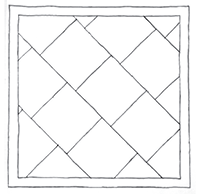 Pencil drawing of a Ashlar rock design same size stone