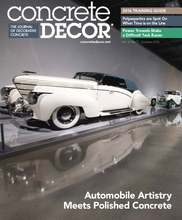 Concrete Decor - Vol. 16 No. 7 - October 2016