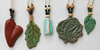 spirit stone leaf pendants