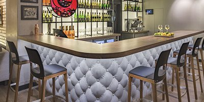 upholstered bar sofa design
